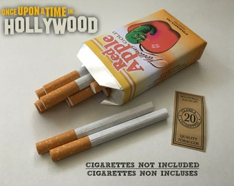 Red Apple Cigarettes GOLD Mellow Cigarette Case / Once Upon A Time in… HOLLYWOOD Movie props Tarantino Pulp Fiction Brad Pitt paquet étui