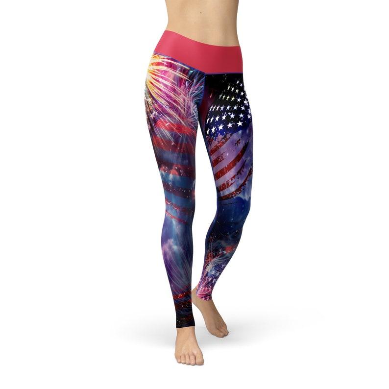 Leggings for Women Workout Leggings Jean July Fourth Leggings Fitness Leggings