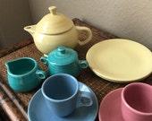 My First Fiesta 11 Piece Childrens Tea Set Homer Laughlin Fiestaware