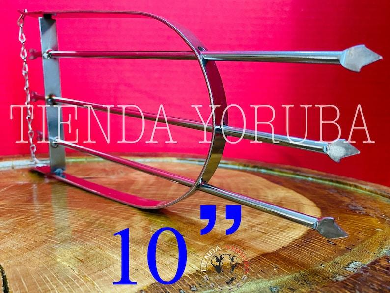Flecha De Ochosi 3 Puntas 10\u201d Pulgadas Grande XxL Santer\u00eda Ochosi Ifa Osha