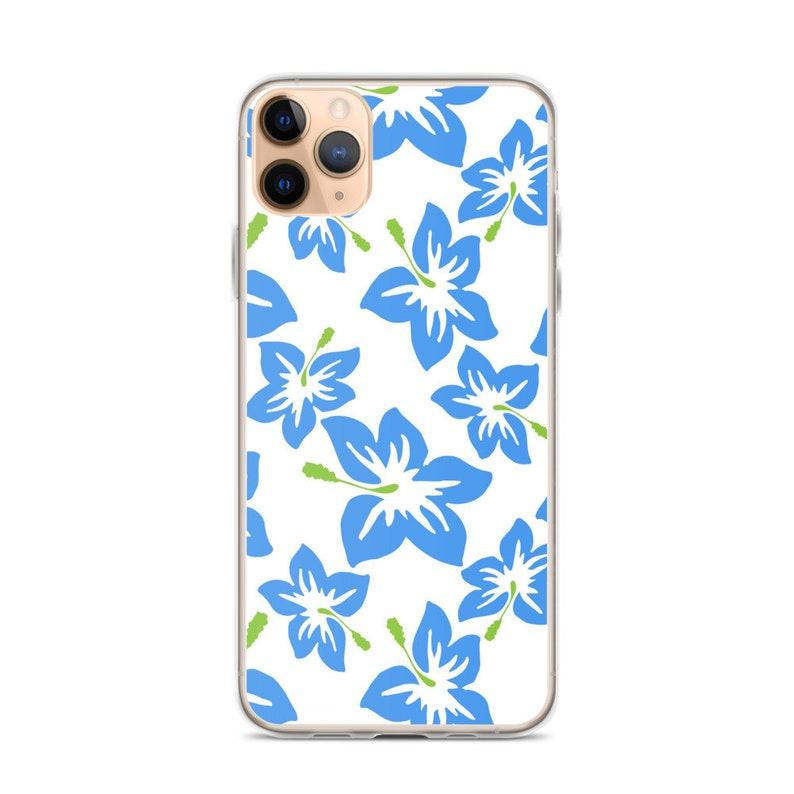 iPhone 78 iPhone 66s Plus XS Max Blue Violets Pattern iPhone 11 Case XR X XS 7Plus8Plus