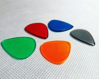 The Rounded Triangle Pick Pack!  Set of 5 Force Handmade High-Performance Guitar Picks - Any Color Combination - Storage Box Included