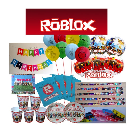 5 Piece ROBLOX Temporary Tattoos ~ Birthday Party Favors Decorations Supplies