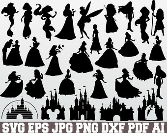 graphic about Disney Silhouette Printable identify Disney silhouette Etsy