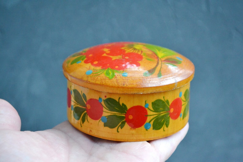 Vintage wooden  Jewelry Box Unique Rare Russian Jewelry Box USSR 1970s Trinket Storage Retro Home Decor Lily of the Valley