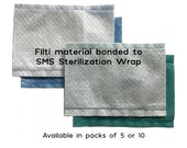 Filters for Face Masks - Filti/SMS (5 or 10) - Flannel Filters (2) - Nonwoven Polypropylene (2)