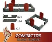 Zombicide Black Plague Green Horde 72x Doors & Walls Board Game