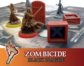 Zombicide Black Plague 8x Wooden Crate Objective Board Game