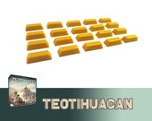 Teotihuacan 20x Deluxe Gold Tokens Board Game