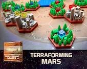 Terraforming Mars 10x City Bicolor Tiles Board Game