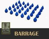 Barrage 30x Color Water Drop Tokens Board Game