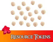 20/40x Deluxe Wool Resource Tokens Board Game