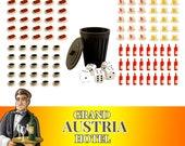 Grand Austria Hotel 120x Dish & Drink Token + Trash Bin Board Game