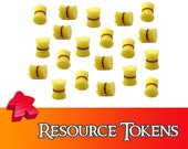 20/40x Deluxe Wheat Resource Tokens Board Game