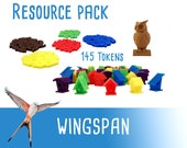 Wingspan 145x Deluxe Tokens Resource Pack Food Action Markers Board Game