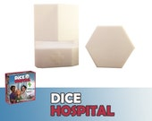 Dice Hospital Tiles Dispenser with Lid Board Game