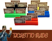 Ticket to Ride 5x Color Deluxe Objective Card Holder Bar Board Game