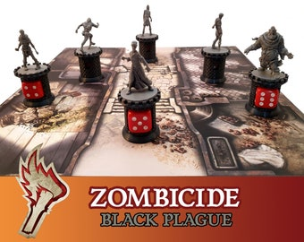 Zombicide Black Plague 6x Tower Zombie Counter Board Game