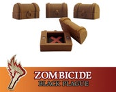 Zombicide Black Plague 8x Magnet Wooden Chest Objective Board Game