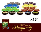 The Castles of Burgundy 164x Deluxe Poker Chips Six-Sided Tiles Board Game