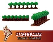 Zombicide Black Plague Green Horde 12x Hedges Bushes Terrain Board Game