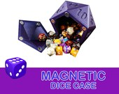 Polyhedral Dice Case with Magnetic Lid Board Game