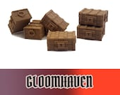 Gloomhaven 6x Wooden Treasure Chest Board Game