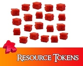20/40x Deluxe Brick Clay Resource Tokens Board Game