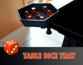 Table Dice Tray with Clamp and Foam Bed Board Game