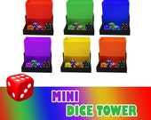 Mini Color Dice Tower - 10 Colors Available - Folding - Soft Bed Board Game