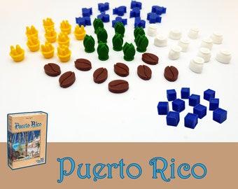 Puerto Rico 50x Deluxe Goods Tokens Board Game