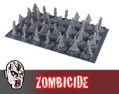 Zombicide Figurine Tray Zombies Survivors Storage 28 Slots Board Game