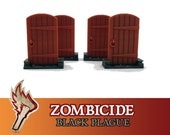 Zombicide Black Plague 4x Wooden Door Board Game