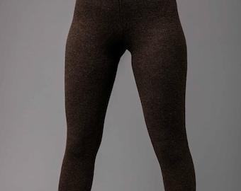Dark Brown Yak Wool Leggings