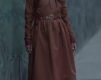 Mongolian 13 th Century Women's Brown Deel