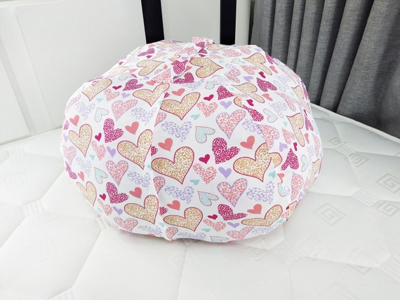 Magnificent Stuffed Animal Storage Bean Bag Chair Hammock Large 38 Toy Organizer Pink For Kids Room Holds 90 Toys To Reduce Clutter Polyester Strong Alphanode Cool Chair Designs And Ideas Alphanodeonline