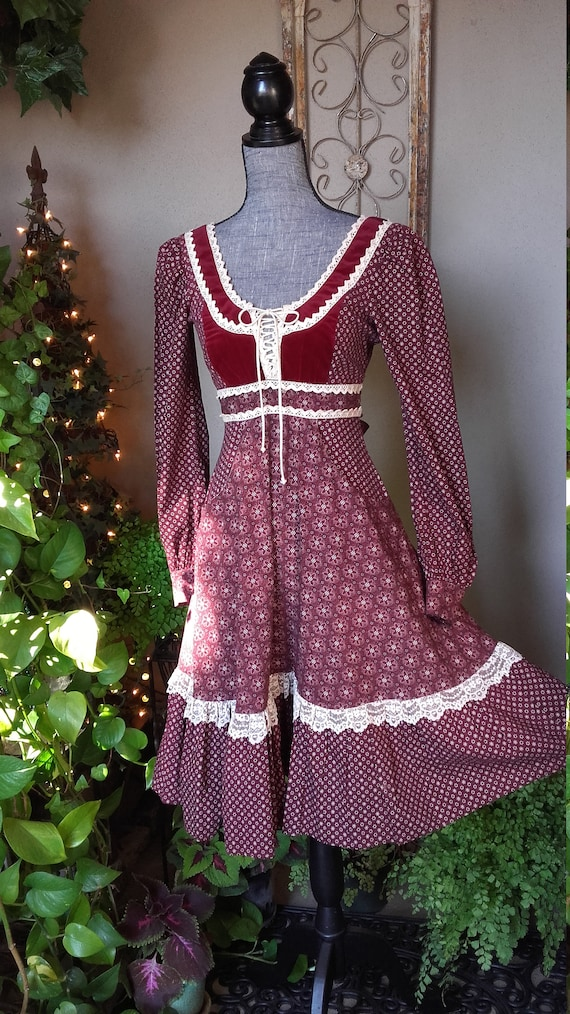 Red Gunne Sax Midi Dress - image 2