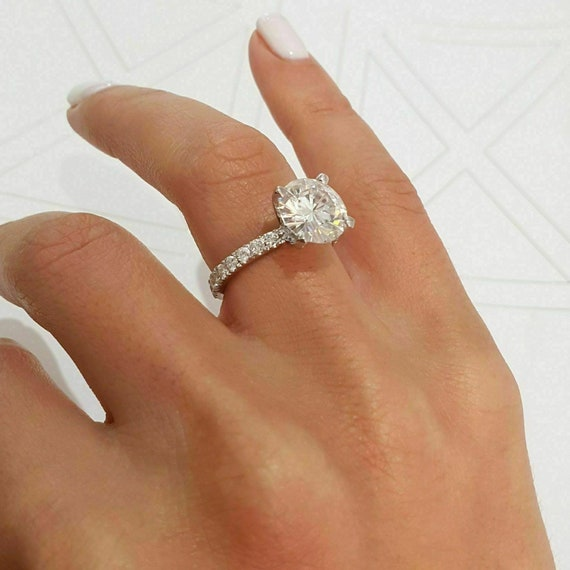 2.00 Marquise Cut Ring Engagement Ring Solitaire Wedding Ring Gift For Her Colorless Moissanite Ring 14KT Yellow Gold Ring