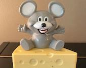 Vintage Blabber Mouth Mouse AM Transistor Radio 1985, Mouse Vintage Radio Mouth Moves 1985