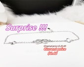 Special Offer Anklet Ladies 39 Anklet Number 8 Pendant Anklet Inlaid Zircon 925 Silver Metal Pendant Light Pendant Trend Romantic B0082