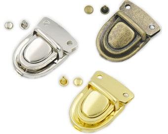 1//2//5//10pcs Leather Handbag Bag Case Tuck Lock Column Closure Catch Clasp Buckle