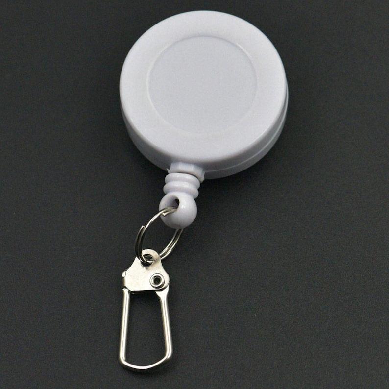 Reels Retractable Badge Clip ID Card Holder Hook Keychain Keyring