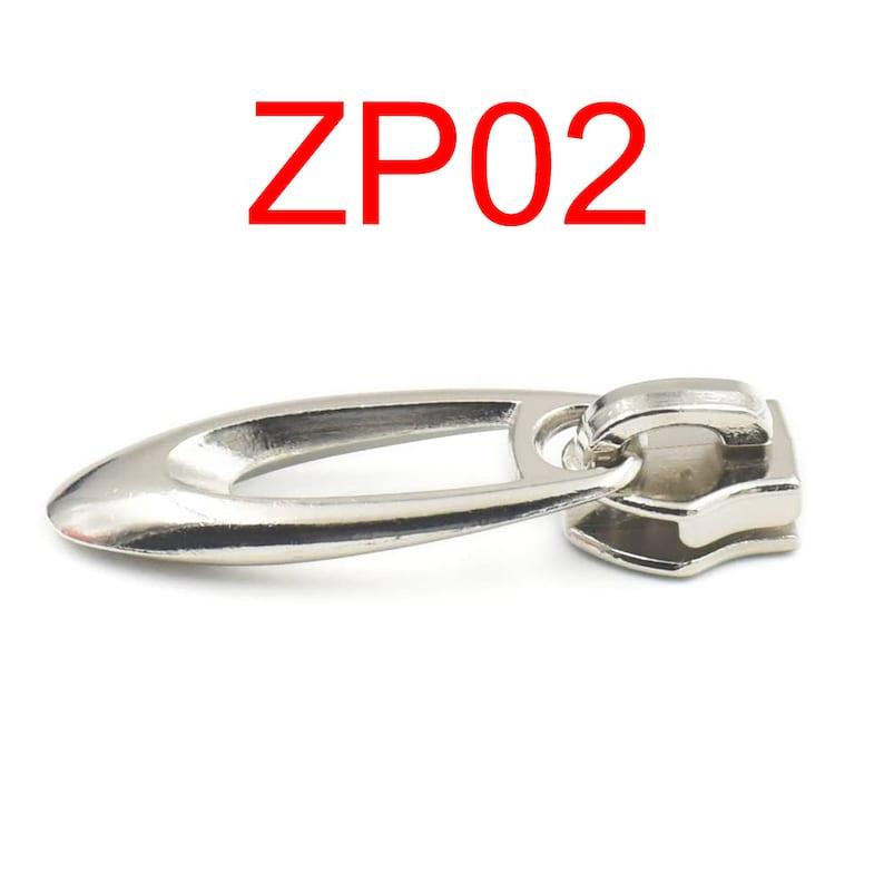 Metal #5 Slider Pull Molded Zipper Puller Repair Replace Kit Stop TOP Craft Zip