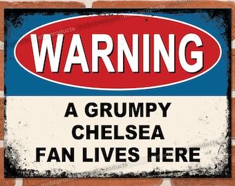 Chelsea Retro Metal Sign Football Pub Plaque Vintage Gift Blue Is The Colour