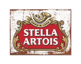 STELLA ARTOIS inspired man cave Bar Beer BOTTLE OPENER Pub Shed KEYRING Keychain