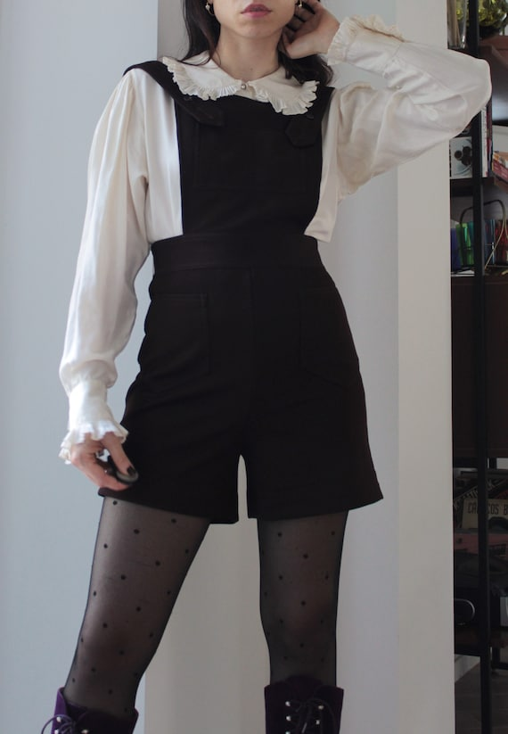 Vintage late 60s dungaree overall shorts
