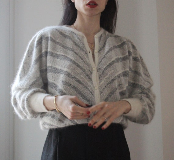 Vintage wool and mohair cardigan