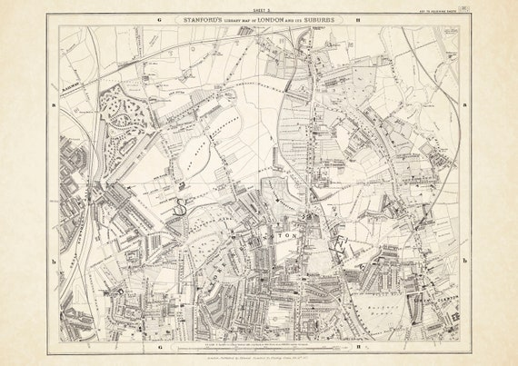 repro city plan by Georg Braun Old Map Bristol in 1568 vintage historical