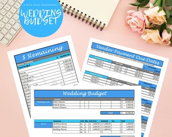Wedding Budget Tracker Template Excel Spreadsheet Plus Etsy