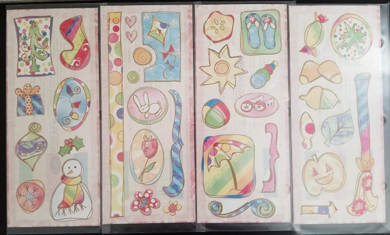 RED /& PINK STICKERS Creative Memories JUMBO GREAT LENGTHS